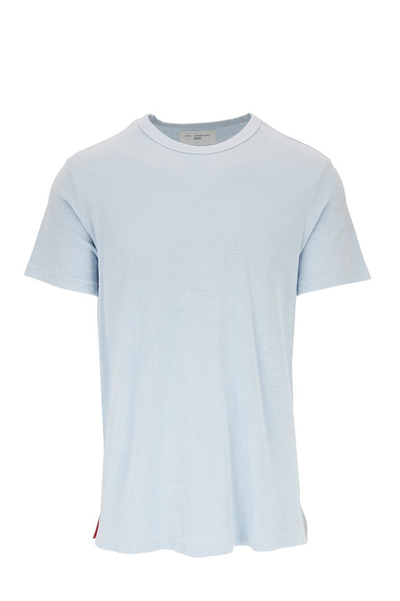 Sol Angeles Mist Blue Loop Terry Crewneck T-Shirt