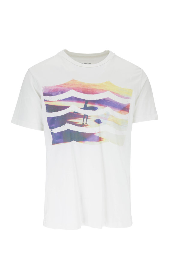Sol Angeles White Sunset Surf Graphic T-Shirt