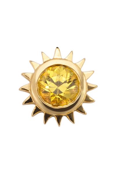 Robinson Pelham - 14K Gold Stud Club Yellow Sapphire Sun Single Stud