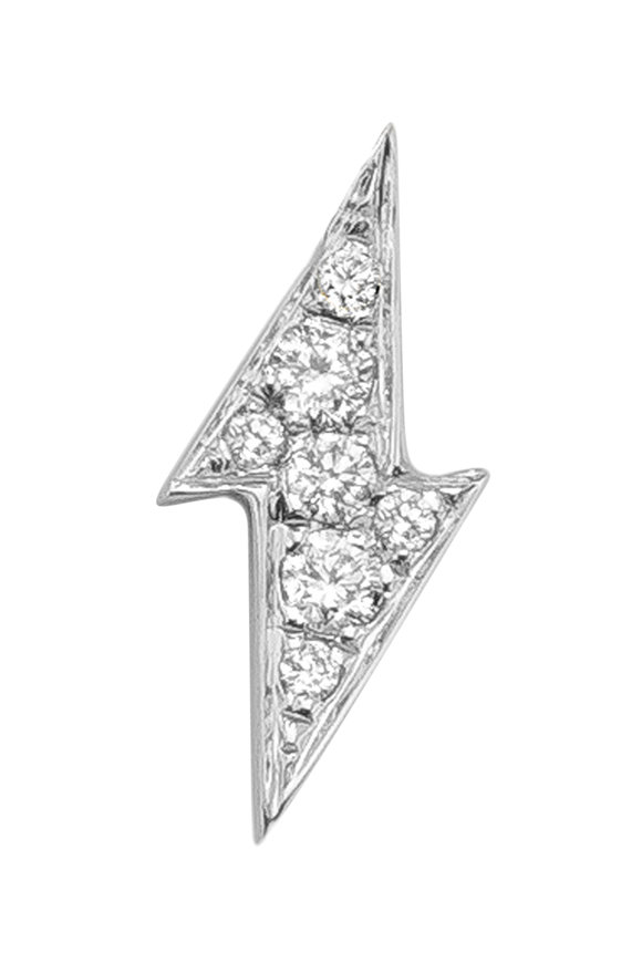 Robinson Pelham 14K White Gold Stud Club Diamond Bolt Single Stud