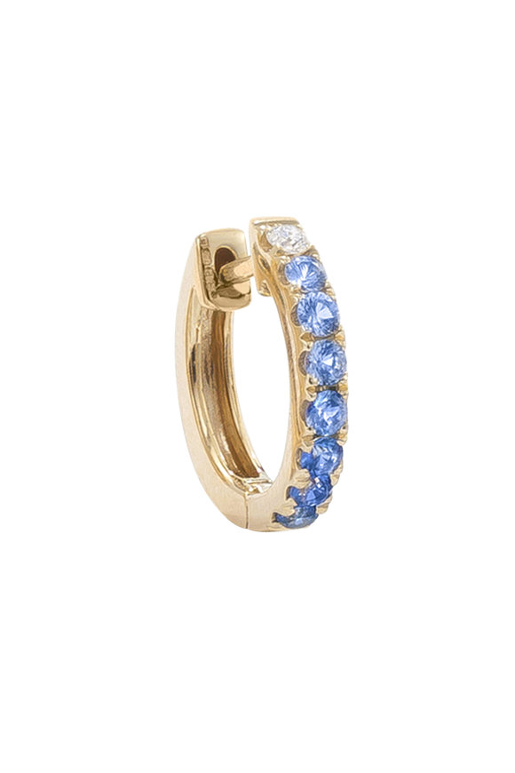 Robinson Pelham 14K Yellow Gold Orb Blue Sapphire & Diamond Hoop
