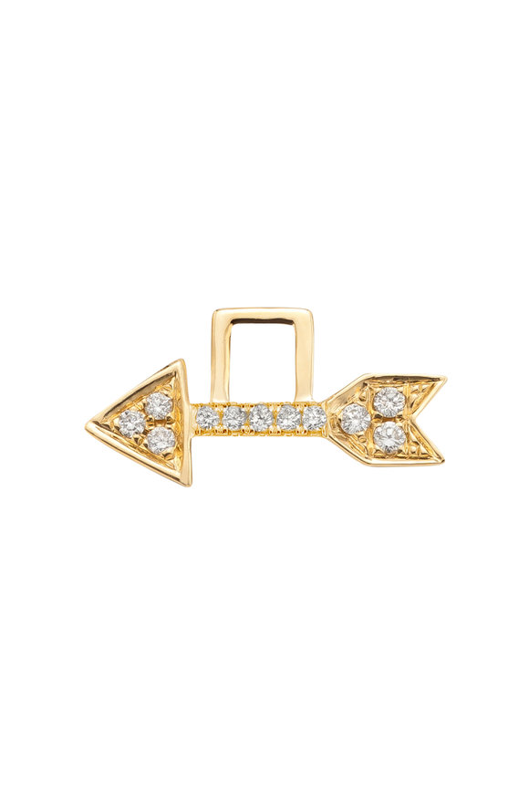 Robinson Pelham 14K Yellow Gold Left Arrow Diamond EarWish