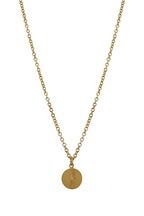 Caroline Ellen - Yellow Gold Diamond Script Pendant Necklace