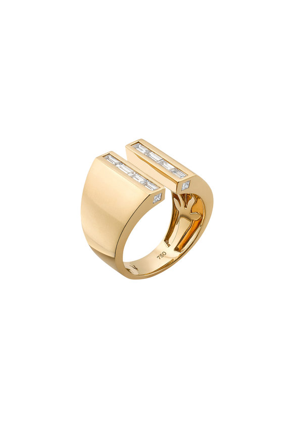 Robinson Pelham 18K Yellow Gold Sabre Diamond Ring