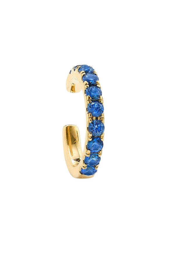Robinson Pelham 14K Yellow Gold Orb Blue Sapphire Earcuff
