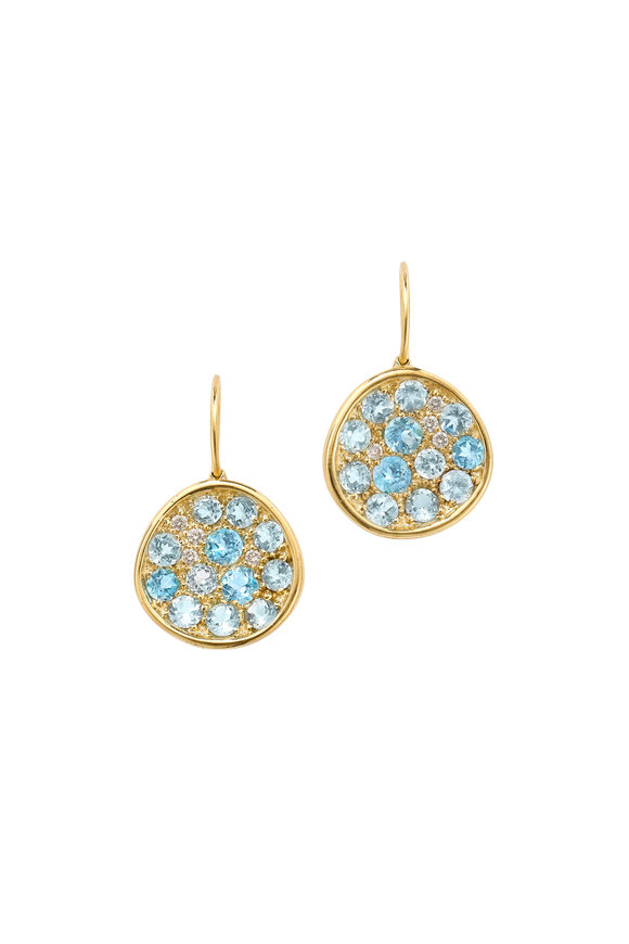 Robinson Pelham 14K Yellow Gold Pomegranate Blue Topaz Earrings