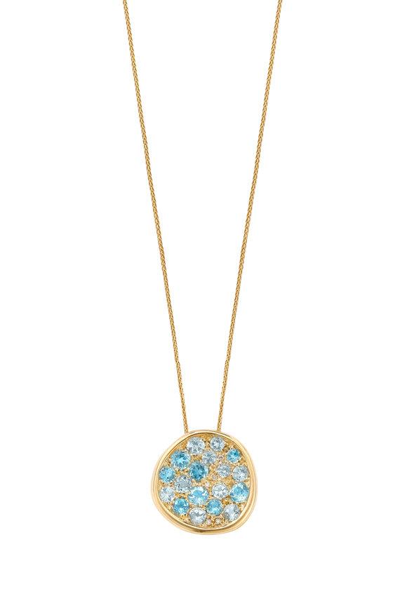 Robinson Pelham 14K Yellow Gold Pomegranate Blue Topaz Necklace