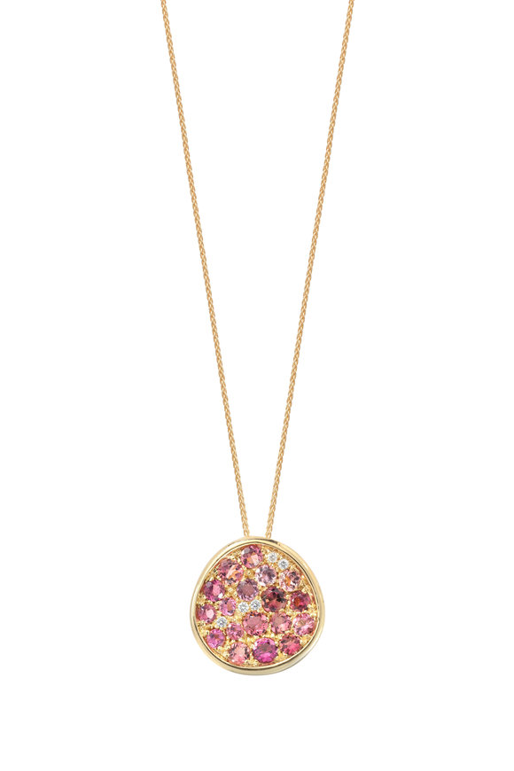 Robinson Pelham 14K Yellow Gold Pomegranate Tourmaline Necklace