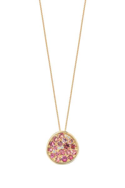 Robinson Pelham - 14K Yellow Gold Pomegranate Tourmaline Necklace
