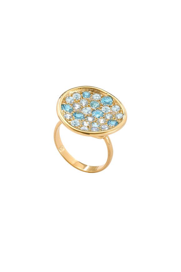 Robinson Pelham 14K Yellow Gold Pomegranate Blue Topaz Ring