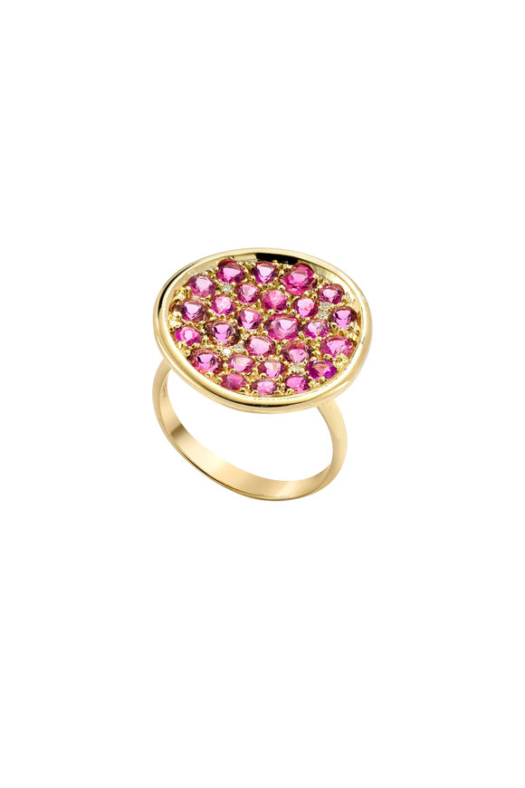Robinson Pelham 14K Yellow Gold Pomegranate Pink Tourmaline Ring