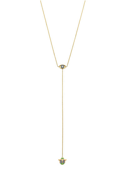 Robinson Pelham - 14K Yellow Gold Chakra Eye & Scarab Necklace