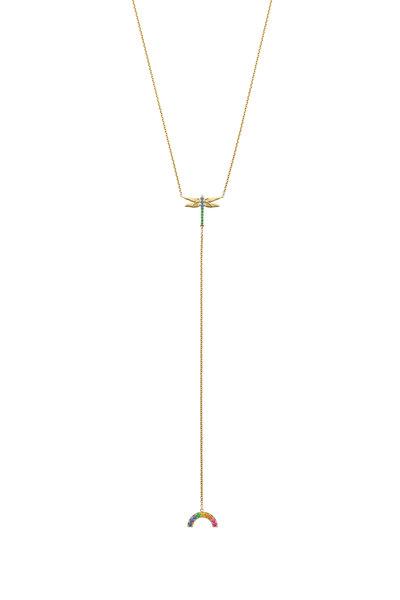 Robinson Pelham - 14K Yellow Gold Chakra Rainbow Sapphire Necklace
