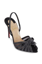 Christian Louboutin - Araborda Black Crystal Embellished Sandal, 100mm