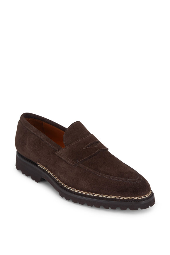 Principe Dark Brown Suede Penny Loafer