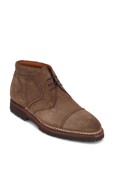 Bontoni - Cacciatore Ardesia Suede Lace-Up Boot