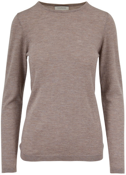 Kinross Suede Worsted Cashmere Fitted Sweater