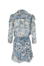 Veronica Beard - Maggie Blue Multi Floral Silk Dress