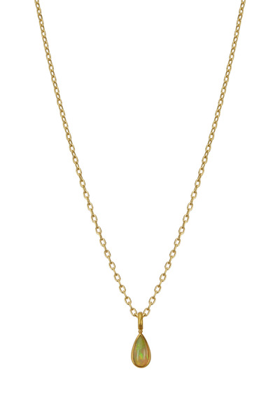 Caroline Ellen - 22K Yellow Gold Ethiopian Opal Necklace