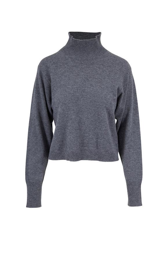 Le Kasha Vail Mid Gray Cashmere Turtleneck Sweater
