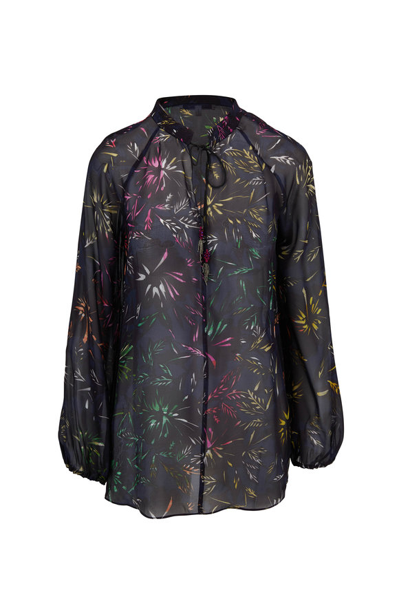 Dorothee Schumacher Charismatic Blooming Multicolor Silk Blouse