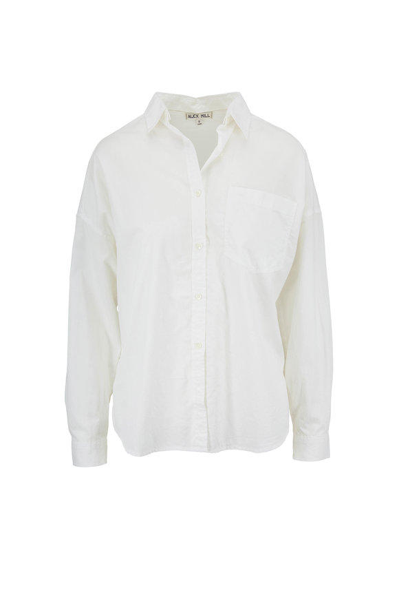 Alex Mill Oversized White Button Down Pocket Shirt