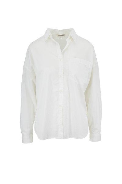 Alex Mill - Oversized White Button Down Pocket Shirt