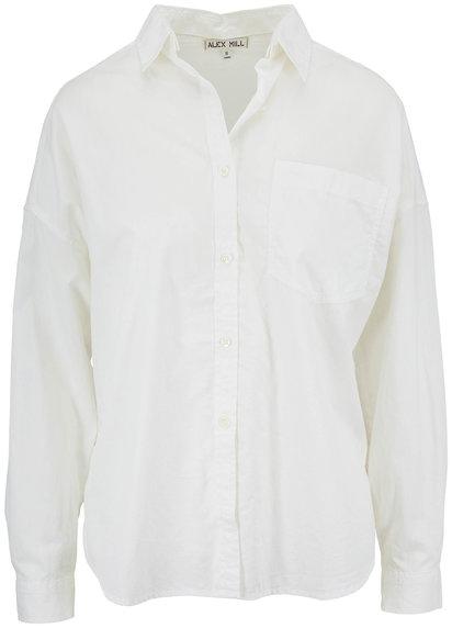 Alex Mill Oversized White Button Down Pocket Shirt