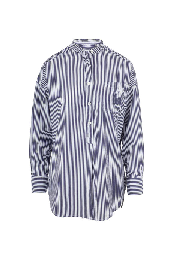 Alex Mill Popover Navy & White Stripe Tunic