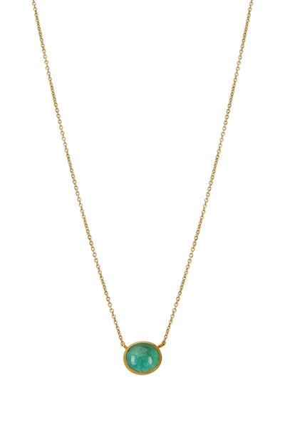 Yossi Harari - Mica Gold Paraiba Tourmaline Pendant Necklace