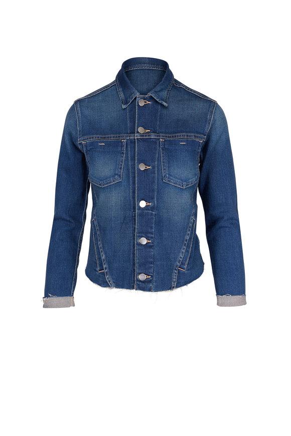 L'Agence Janelle Meridian Denim Slim Jacket