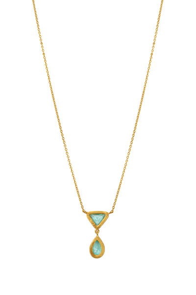 Yossi Harari - Mica Yellow Gold Tourmaline Necklace