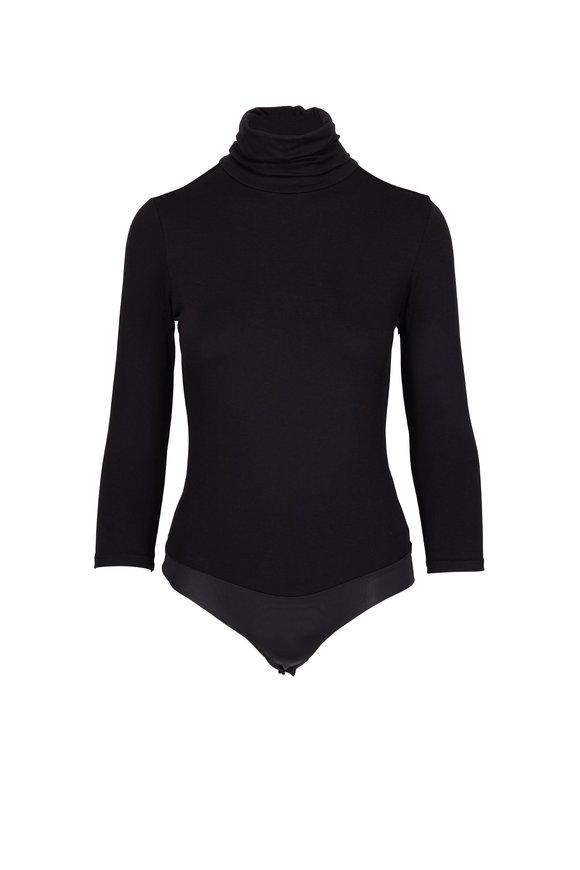 L'Agence Aida Black Turtleneck Bodysuit