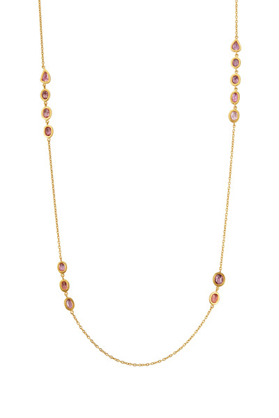 Yossi Harari - Mica Yellow Gold Padparadscha Sapphire Necklace