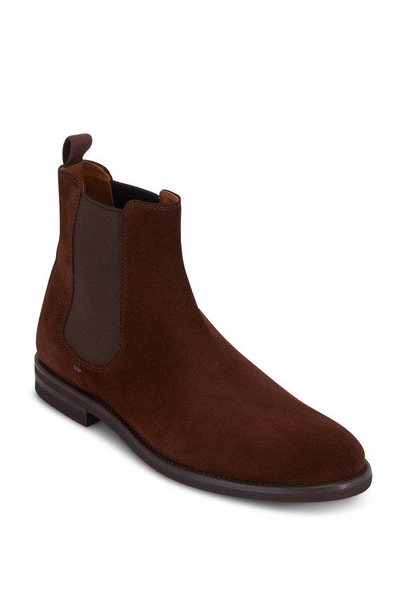 Brunello Cucinelli Dark Brown Suede Chelsea Boot