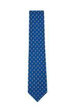 Salvatore Ferragamo - Royal Blue Bunny Silk Necktie