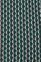 Salvatore Ferragamo - Dark Green Moon & Star Silk Necktie