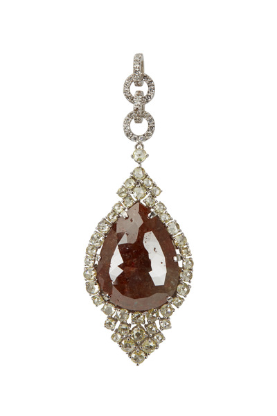Loren Jewels - Brick Diamond & Yellow Diamond Pendant