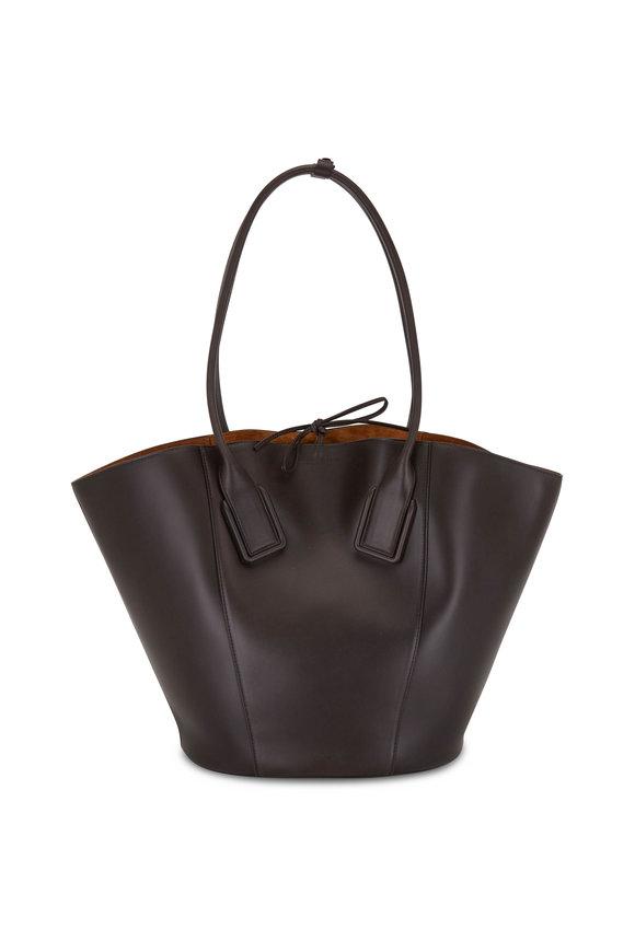 Bottega Veneta Dark Brown Leather Large Tote