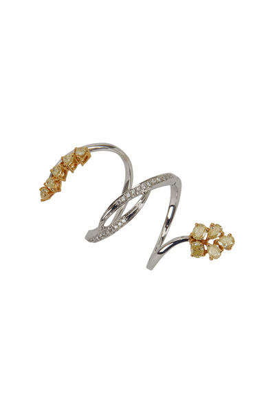 Loren Jewels - Gold Fancy Yellow Diamond Twist Ring
