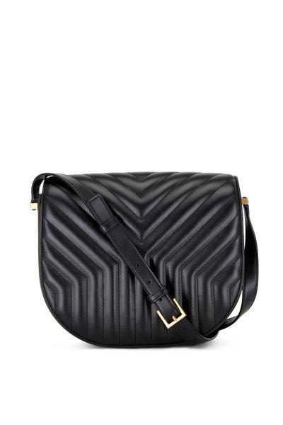 Saint Laurent - New Joan Black Matelassé Satchel Bag