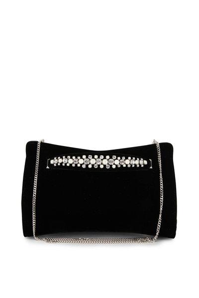 Jimmy Choo - Venus Black Velvet Pearl & Crystal Bracelet Clutch