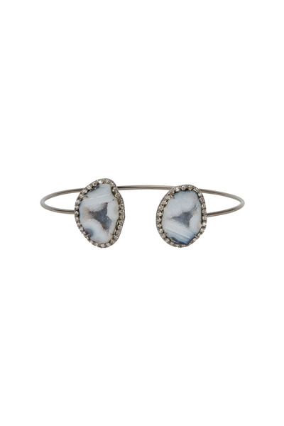 Kimberly McDonald - White Gold Blue Geode Diamond Bracelet