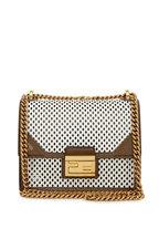 Fendi - Kan U White & Brown Perforated Leather Small Bag