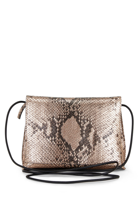 B May Bags Blush Snakeskin Print Small Crossbody