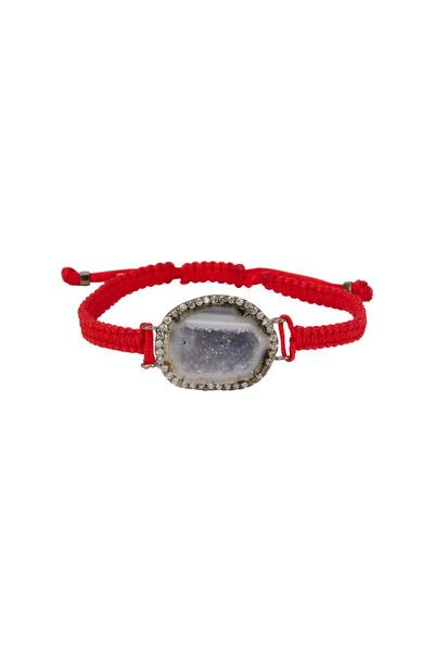 Kimberly McDonald - White Gold & Macrame Geode Diamond Bracelet