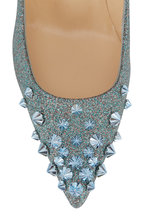 Christian Louboutin - Drama Metallic Light Blue Glitter Pump, 85mm