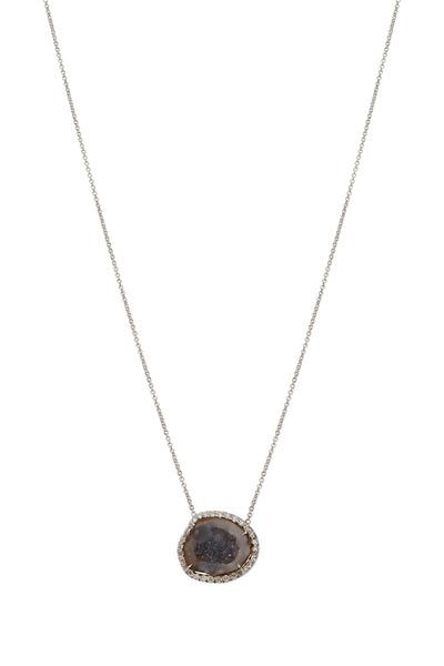 Kimberly McDonald - White Gold Translucent Geode Diamond Necklace