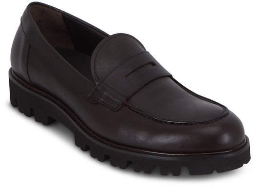 Vince Comrade Dark Brown Leather Penny Loafer