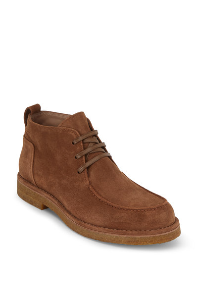 Vince - Colter Tobacco Suede Lace-Up Boot